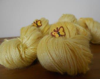 Deep Primrose Yellow Lambswool/Mohair D.K