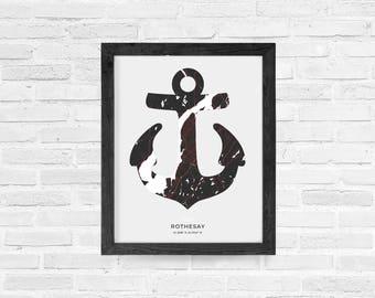 Rothesay Anchor Print