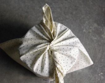 Bag Bento / lunch - Azuma Fukuro bag - bag stars - to store and carry - old cotton - Small