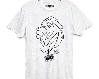 Lion art - shirt - men