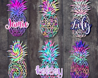 Pineapple Decal  Pineapple Name Decal  Car Window Decal  Tumbler Decal  Pineapple  Name Decal  Vinyl Decal
