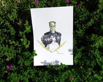 Inktoer 2017 - Frankenstein & His Bride Original