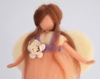 Waldorf fairy, Felt fairy, Wool fairy, Fairy with flower, Felted wool, Waldorf mobile, Fairy mobile, Magic world, Fantasy world