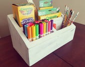 Long Crayon Caddie Organizer for Ball Jars with 8 Slots