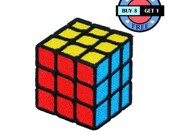 Rubik Cube Toy Game Embroidered Iron On Patch Heat Seal Applique Sew On Patches