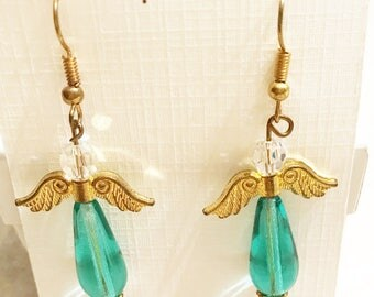 Aqua Angel Earrings