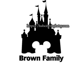 Disney Castle Mickey Family Vinyl DIY IRON ON