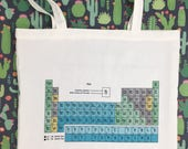 Yorkshire Periodic Table Chemistry school tote shopping grocery bag Yorkshire Gift Pillow funny