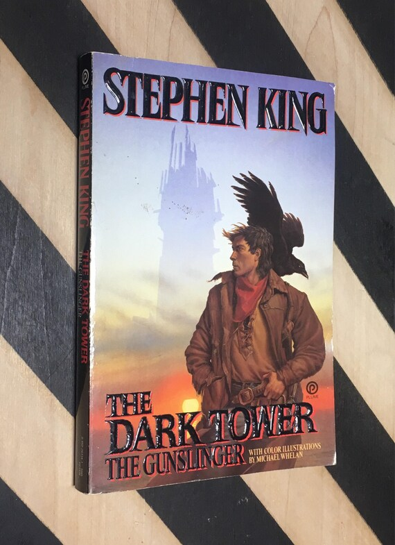 The Dark Tower: The Gunslinger by Stephen King With Color Illustrations by Michael Whelan (1988) softcover book