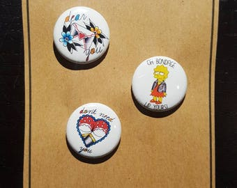 Button Set of 3