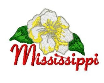 Magnolia State Flower Embroidery Design,  Mississippi State Flower Embroidery Design, Instant Download, 4x4 Hoop