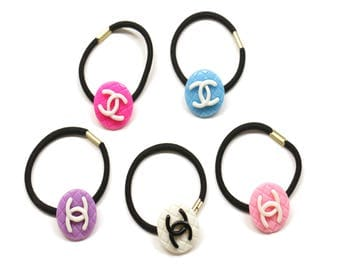 Two-Tone Hair Elastic,Ponytail Holder for Girls and Women