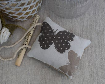 Door cushion fabric - Butterfly cushion - decorative pillow - cushion to hang - hanging cushion - butterfly