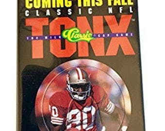 1993 Classic NFL Tonx Milk Cap Game Jerry Rice Promo San Francisco 49ers