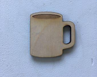 Coffee mug, laser cut, laser engraved