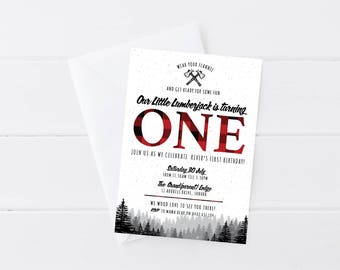 Lumberjack Invitation | Lumberjack Birthday | Lumberjack Party | Lumberjack | Camping | Printable Invitation