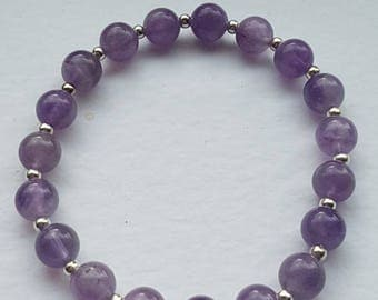 Amethyst bracelet,  chakra balancing, healing. Can be reiki charged on request