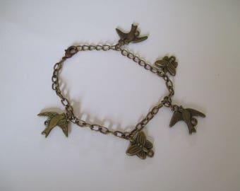 bronze bracelet fantasy metal charms