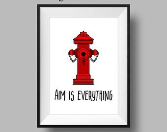 Boys Bathroom Decor - Mens Bathroom Sign - Bathroom Decor - Last Minute Gift- Funny Housewarming Gift - Funny Art Print - Funny Bathroom Art
