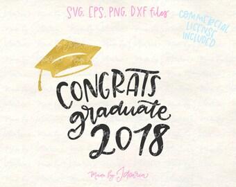 Graduation svg, graduate svg, graduation cap svg, svg files, svg files sayings, svg files for cricut, class 2018 svg, graduate 2018 svg