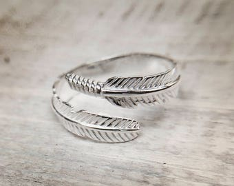 Feather ring, adjustable feather ring