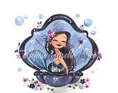 Mermaid of the Midnight Mini Fine Art Print