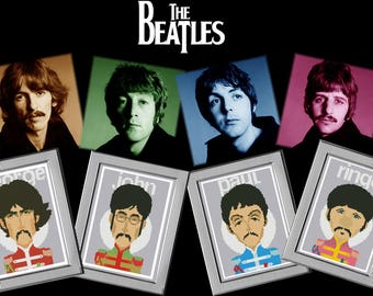Cross stitch pattern BEATLES Music Teacher gifts Music gift Music art Dad birthday gift Musician gift Cross stitch chart easy Grandpa gift