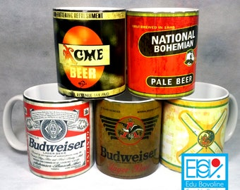 Old Beer Cans Template Pack #1  (5 Beer Cans)
