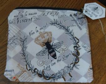 Queen Bee Zipper Pouch