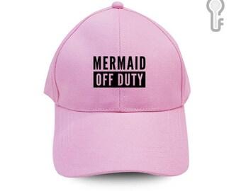 Mermaid Off Duty Baseball Cap Fashion Flock Flex Hat