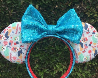 Red or Tri Corgi Fourth of July Mouse Ears: Ready to Ship!!