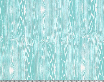 One Yard Cut - Woodgrain in Aqua - Basic Colors by Joel Dewberry for Free Spirit -  Quilters Cotton - Fabric by the Yard