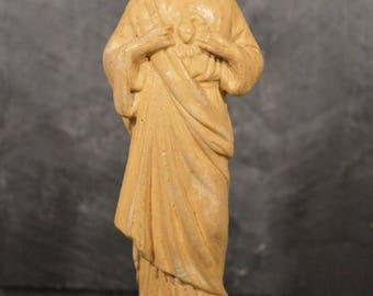 Religious chalk ware Jesus ornament statue