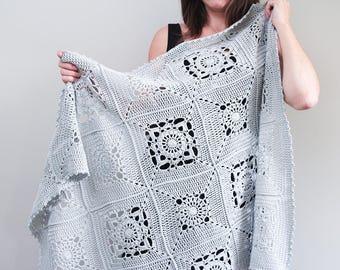 Heirloom Blanket PATTERN: Baby Blanket, Crochet Blanket, Crochet Afghan, Christening Blanket, Granny Squares, Video Tutorial, WeeYarn