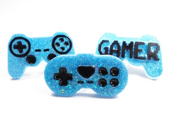 SALE 50% ring double double finger ring kawaii pastel glitter heart gamer controller geek Nerd