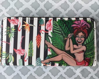 Chiquita Rita - Custom Hand painted wallet clutch wristlet art