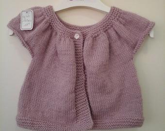 Old short sleeve vest pink 12 month