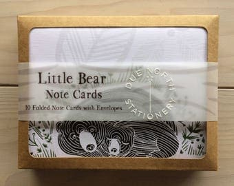 Little Bear Note Card Set, Due North Stationery, Alaska