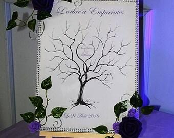 custom wedding fingerprint tree