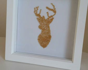 Golden stag in frame