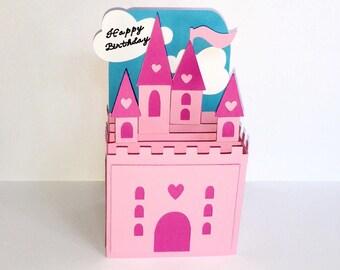 Princess Castle Pop-up Card (customizable)