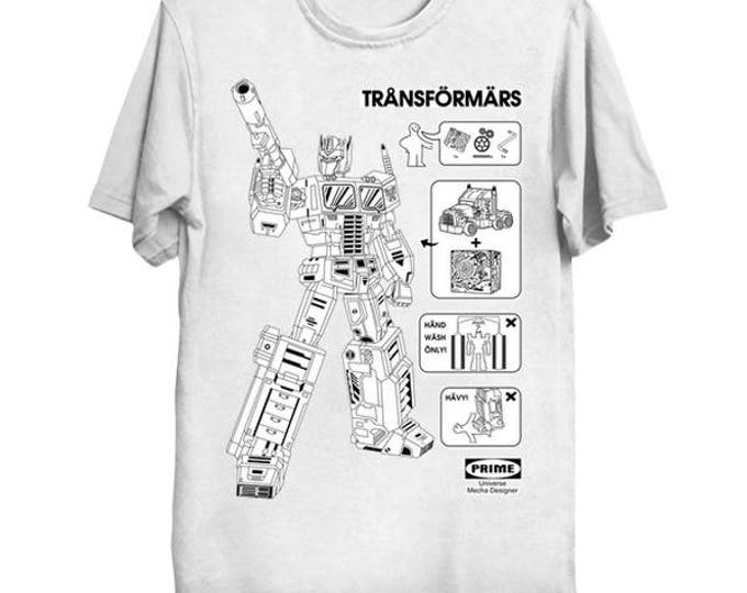 Transförmärs Ikea Geek T-Shirt Nerd Transformers Anime Shirt Optimus Prime Autobot Instructions