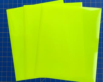 Neon Fluorescent EasyWeed Iron On Heat Transfer, Yellow, For Cricut Silhouette and all Craft Cutters