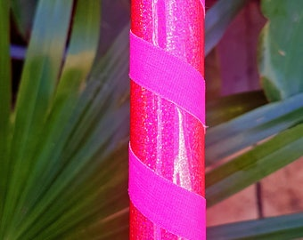 """Hula Hoop """"Pink HoloGlitter"""" - Collapsible Polypro or HDPE"""