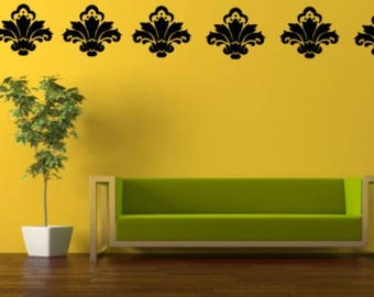 Damask Wall Decal, Choose From Many Colours and Sizes