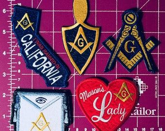 Masonic Iron On Patches