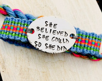 She believed , she could so she did.