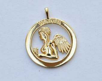 Zodiac engraved pendant