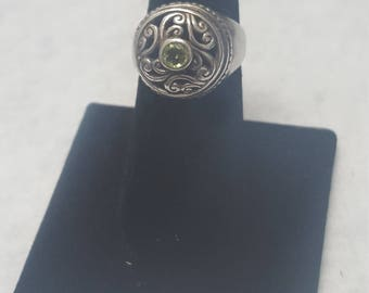 Vintage sterling silver Peridot size 7 ring