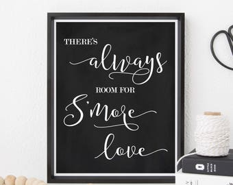 S'mores Bar Sign - S'mores Bar - S'mores Wedding Sign Chalkboard - S'mores Bar - S'more Love Sign - Smore Love - S'mores Favor
